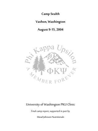 Camp Sealth Vashon, Washington August 9-15, 2004