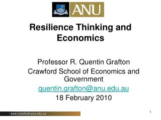 Resilience Thinking and Economics