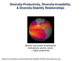Diversity-Productivity, Diversity-Invasibility, & Diversity-Stability Relationships