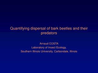 Quantifying dispersal of bark beetles and their predators