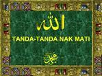 TANDA-TANDA NAK MATI