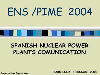 ENS /PIME  2004