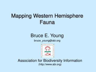 Mapping Western Hemisphere Fauna