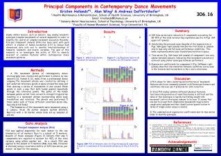 Principal Components in Contemporary Dance Movements