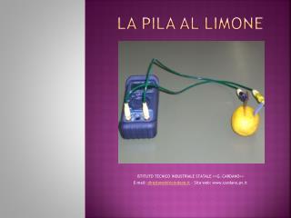 La pila al limone