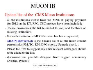 MUON IB