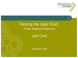 Varying the User Cost: A New Zealand Perspective