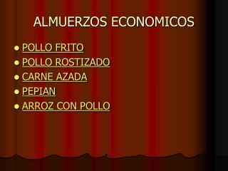 ALMUERZOS ECONOMICOS