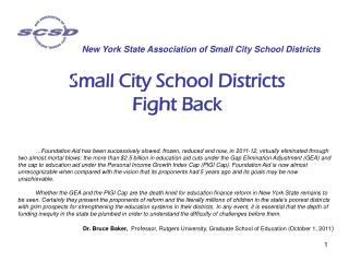 Small City School Districts Fight Back