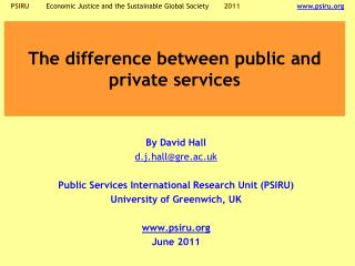 The difference between public and private services