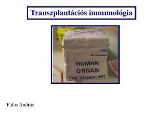 Trans zplant�ci�s immunol�gia