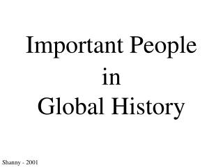 important people in history