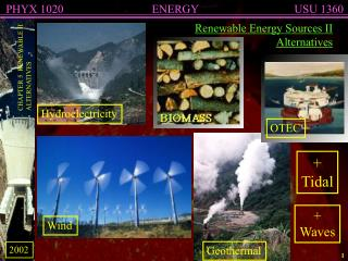 Renewable Energy Sources II Alternatives