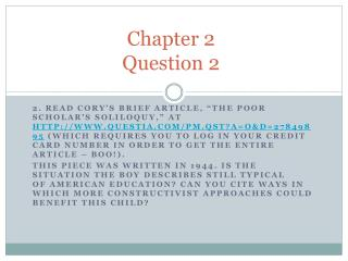 Chapter 2 Question 2
