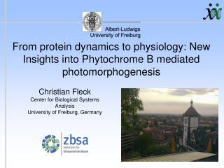 From protein dynamics to physiology: New Insights into Phytochrome B mediated photomorphogenesis