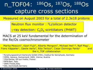 n_TOF04:   186 Os,  187 Os,  188 Os capture cross sections