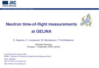 Neutron time-of-flight measurements  at GELINA