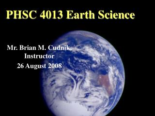 PHSC 4013 Earth Science