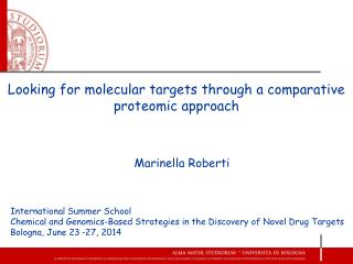 Looking for molecular targets through a comparative proteomic approach