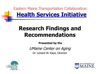 Eastern Maine Transportation Collaborative: Health Services Initiative