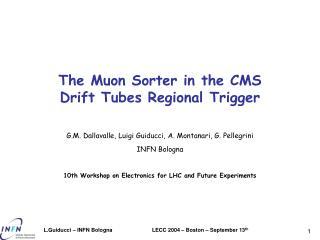 The Muon Sorter in the CMS Drift Tubes Regional Trigger