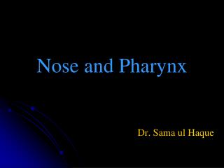 Nose and Pharynx