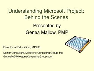 Understanding Microsoft Project: Behind the Scenes