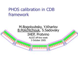 PHOS calibration in CDB framework