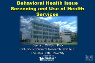 Behavioral Health Issue Screening and Use of Health Services