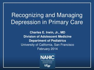Recognizing and Managing Depression in Primary Care