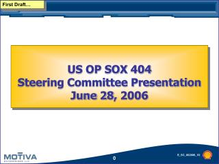 US OP SOX 404 Steering Committee Presentation  June 28, 2006