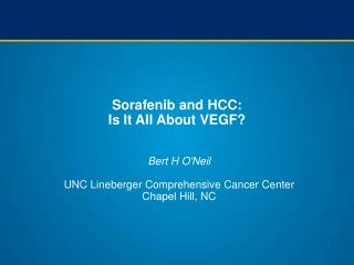 Sorafenib and HCC:  Is It All About VEGF?
