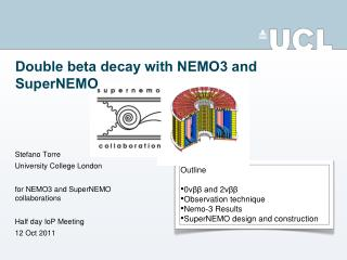 Double beta decay with NEMO3 and SuperNEMO