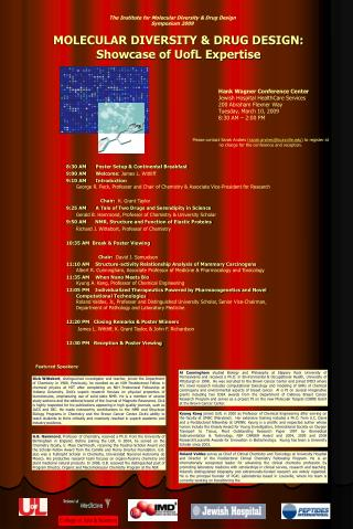 MOLECULAR DIVERSITY & DRUG DESIGN: Showcase of UofL Expertise