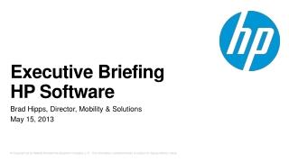 HP Quality Center Portfolio Overview