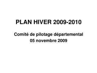 PLAN HIVER 2009-2010