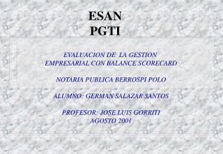 ESAN PGTI