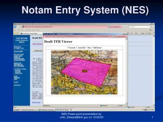 Notam  Entry System (NES)