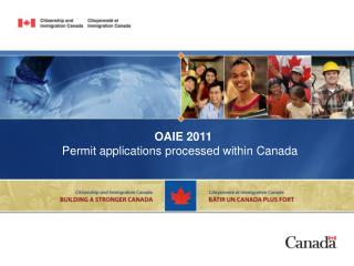 OAIE 2011 Permit applications processed within Canada