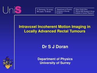 Intravoxel Incoherent Motion Imaging in Locally Advanced Rectal Tumours
