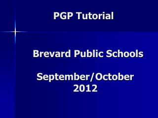 PGP Tutorial