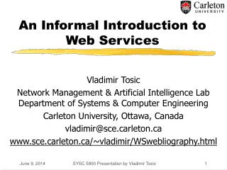 An Informal Introduction to Web Services