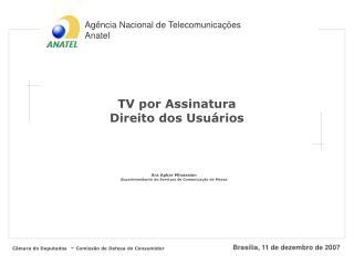 TV por Assinatura Direito dos Usuários