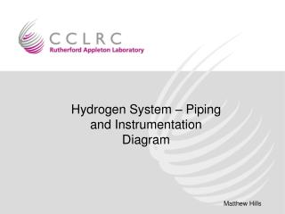 Hydrogen System – Piping and Instrumentation Diagram