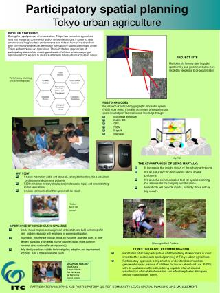 Participatory spatial planning Tokyo urban agriculture