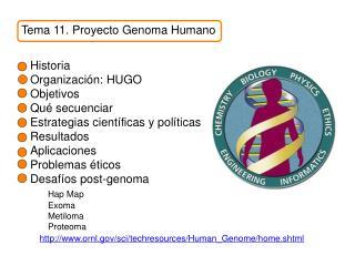 Tema 11. Proyecto Genoma Humano