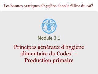 Principes généraux d'hygiène alimentaire du Codex  – Production primaire
