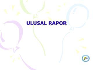 ULUSAL RAPOR