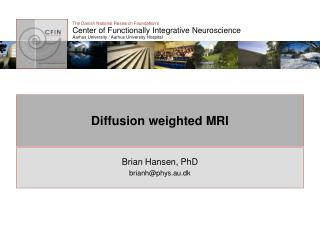 Diffusion weighted MRI