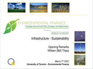 Infrastructure - Sustainability